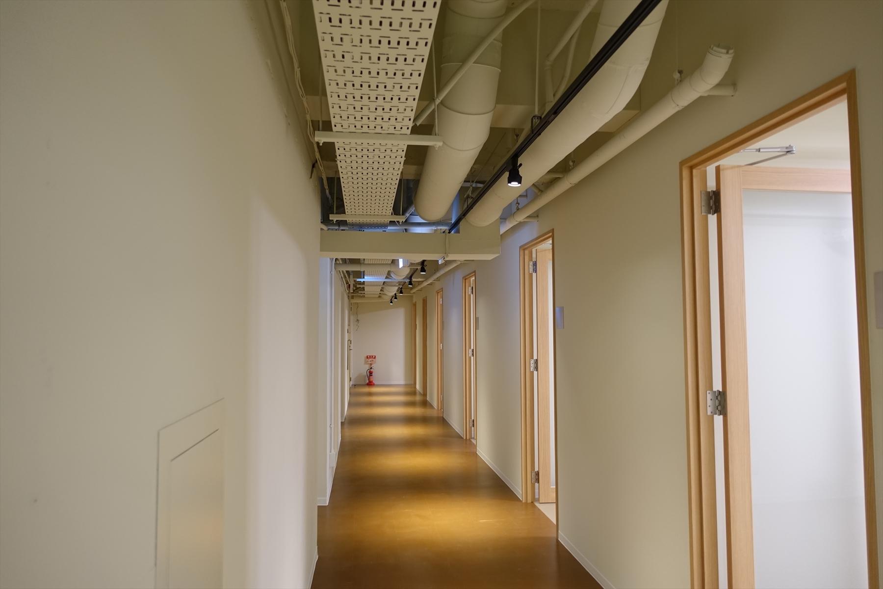 仕事場の2階の通路