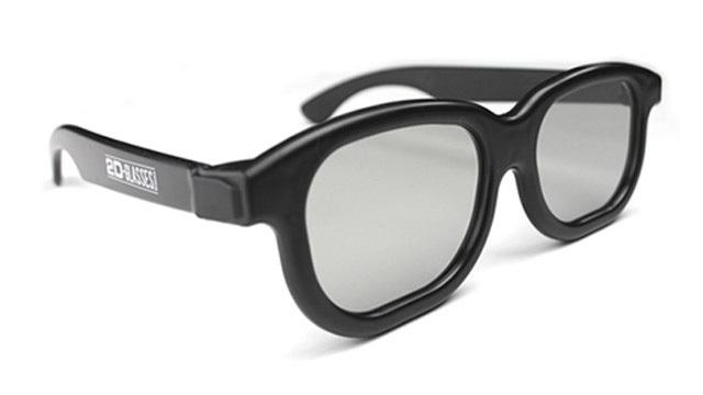 3Dの映像が普通に見える2Dメガネ