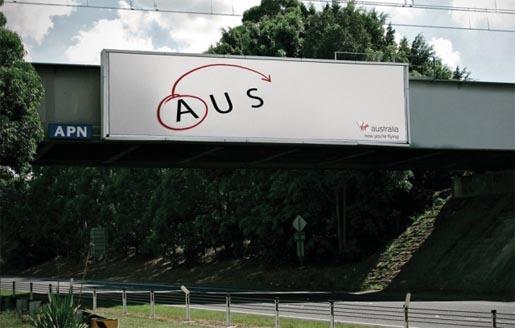 航空会社「Virgin Australia」のシンプルな広告